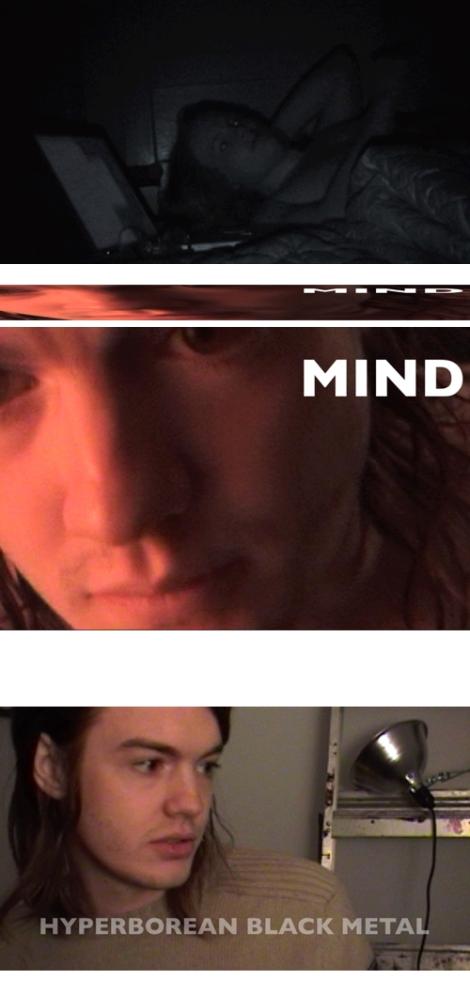 """Video stills from Hunter Hunt-Hendrix's """"Genesis Caul,"""" 2011."""