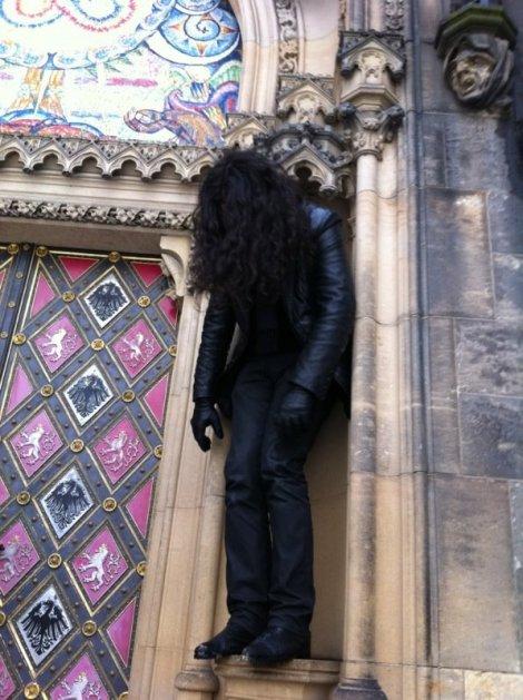 Stephen O'Malley in Prague. Photo by Lindsie Zakopal.